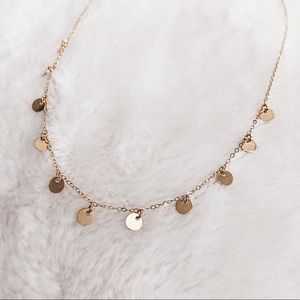 Jewelry - 14k Gold Filled 11 Tiny Discs Dainty Necklace